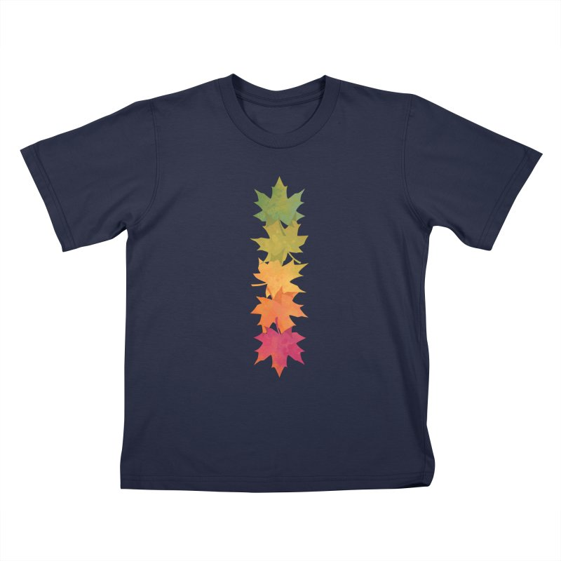 Falling Maple Kids T-Shirt by Waynem