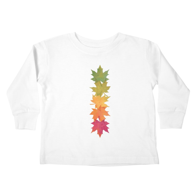 Falling Maple Kids Toddler Longsleeve T-Shirt by Waynem