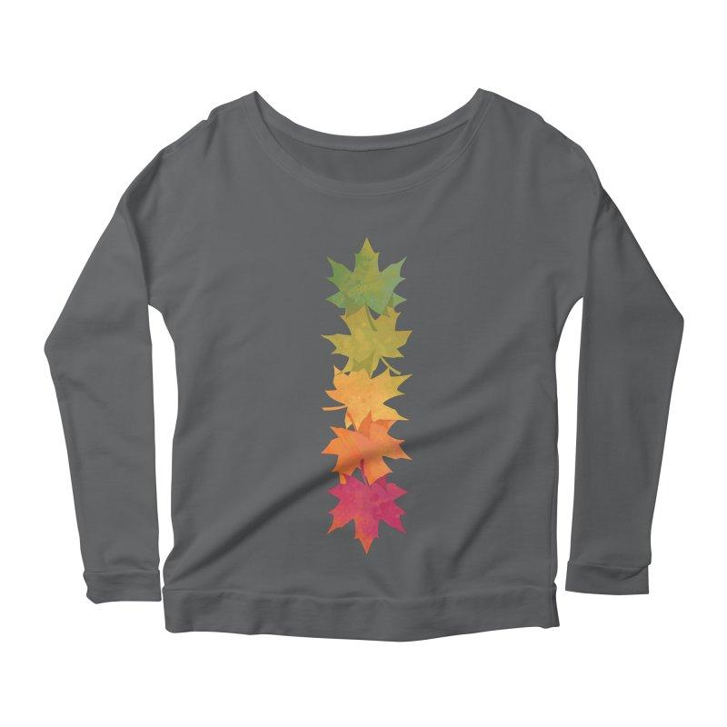 Falling Maple Women's Scoop Neck Longsleeve T-Shirt by Waynem