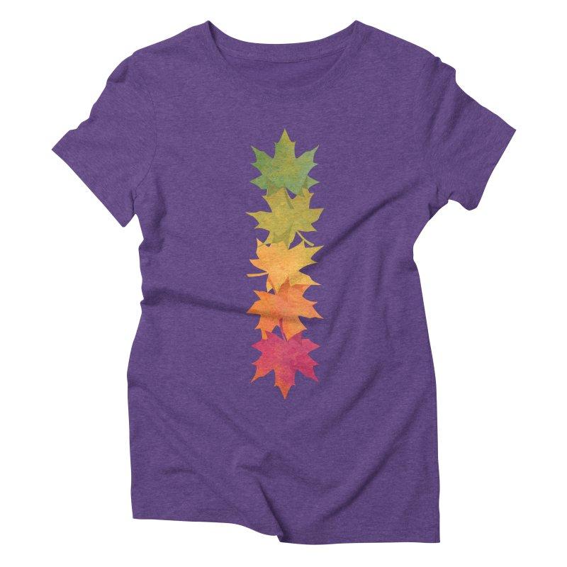 Falling Maple Women's Triblend T-Shirt by Waynem