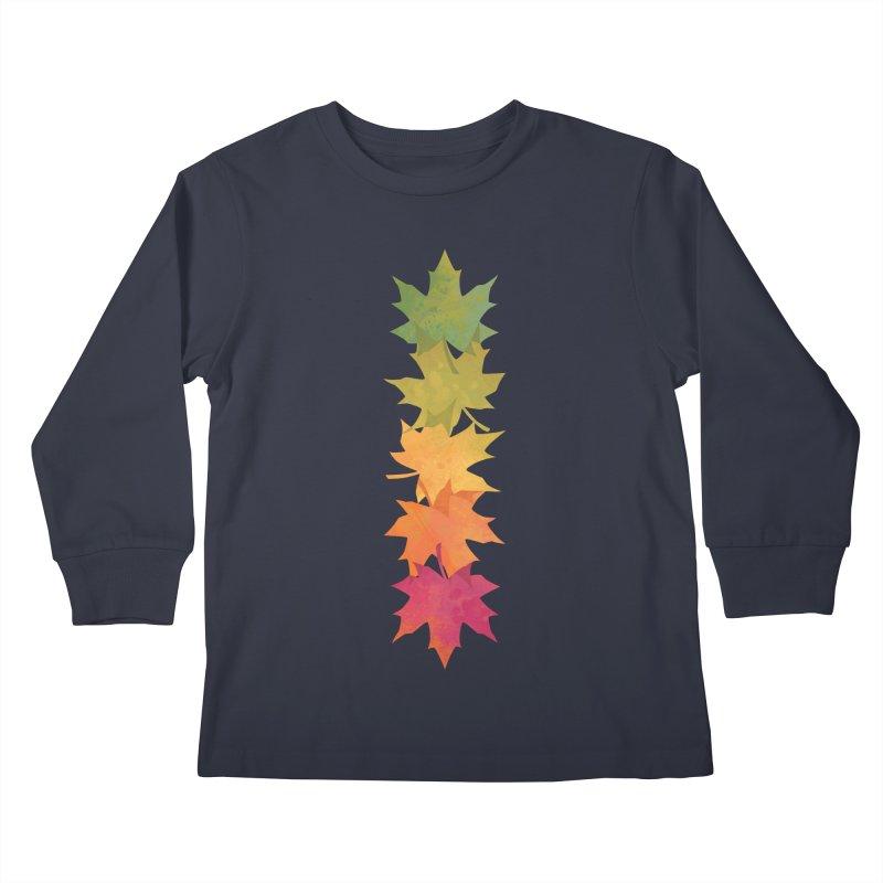 Falling Maple Kids Longsleeve T-Shirt by Waynem