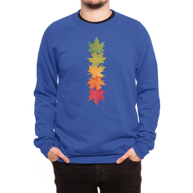 Falling Maple Men's Sweatshirt by Waynem