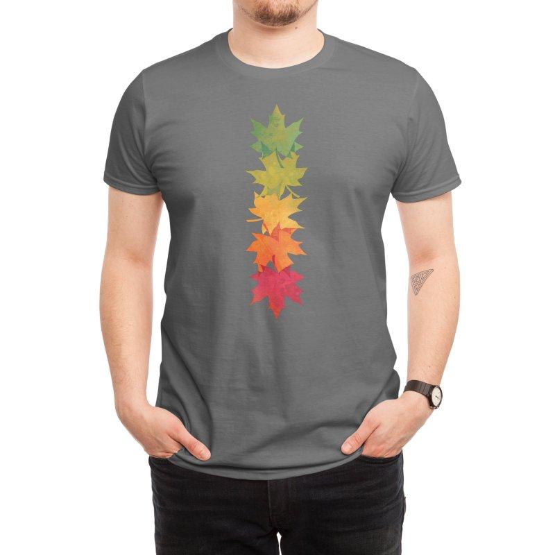 Falling Maple Men's T-Shirt by Waynem