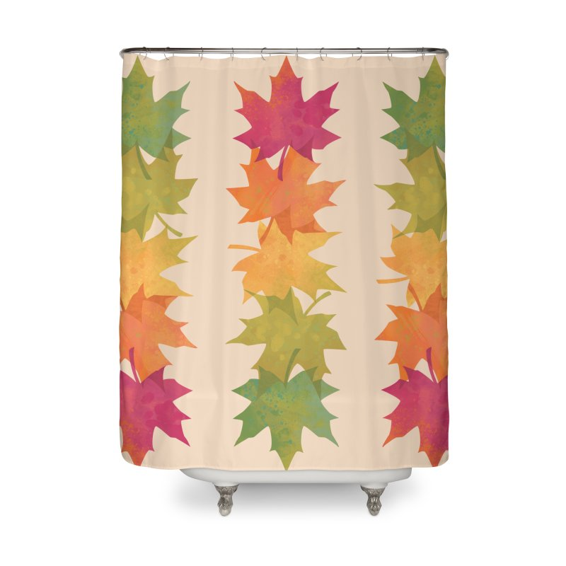 Falling Maple Home Shower Curtain by Waynem