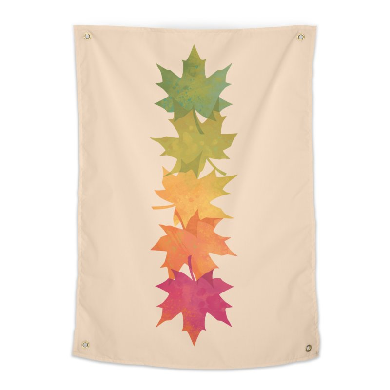 Falling Maple Home Tapestry by Waynem