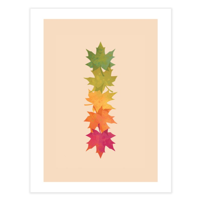 Falling Maple Home Fine Art Print by Waynem