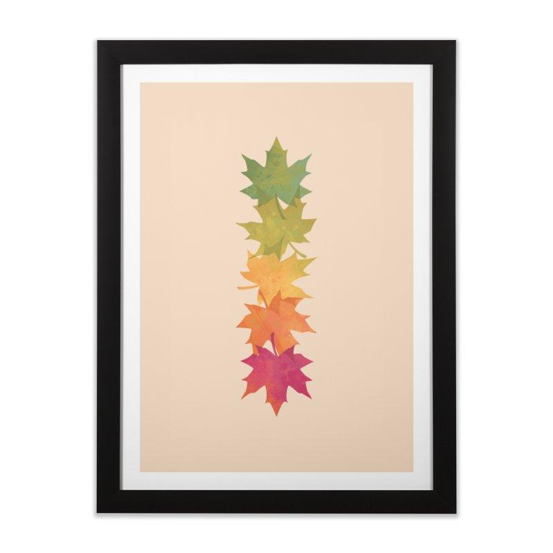 Falling Maple Home Framed Fine Art Print by Waynem