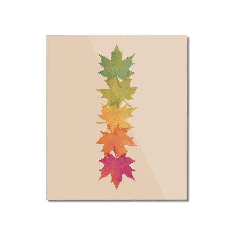 Falling Maple Home Mounted Acrylic Print by Waynem