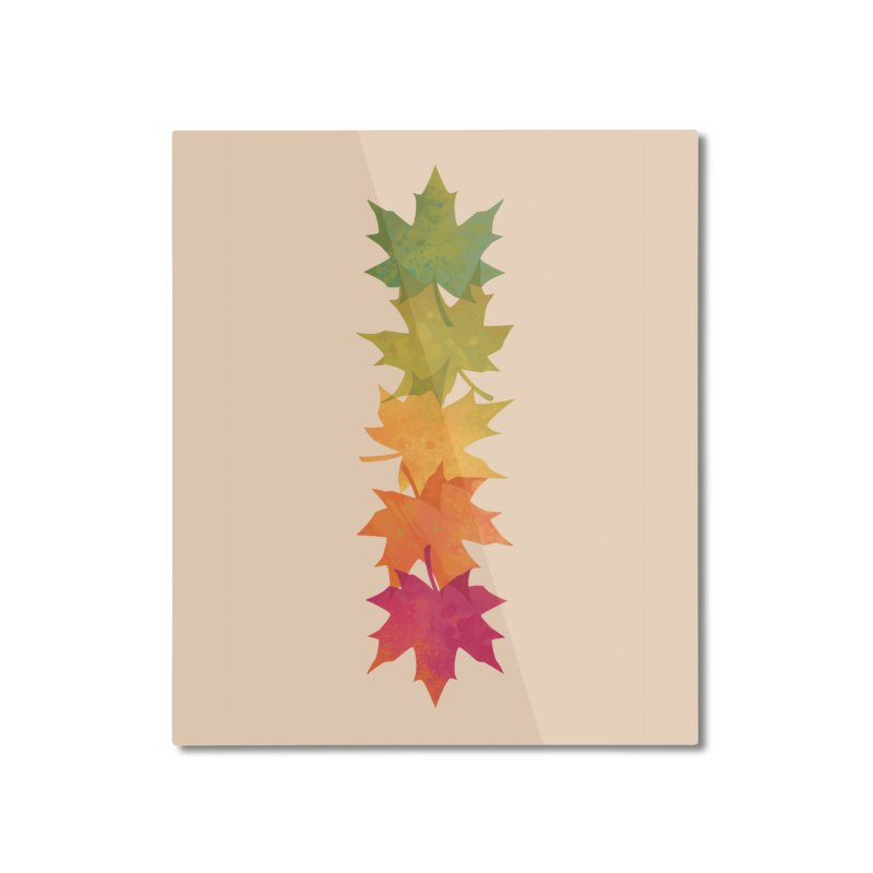 Falling Maple Home Mounted Aluminum Print by Waynem