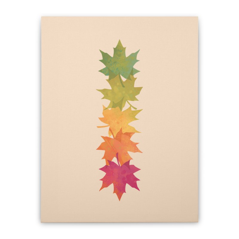 Falling Maple Home Stretched Canvas by Waynem