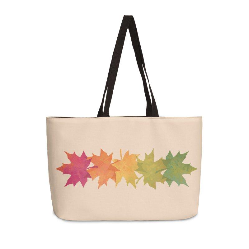 Falling Maple Accessories Weekender Bag Bag by Waynem