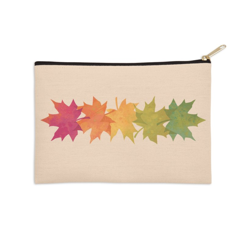 Falling Maple Accessories Zip Pouch by Waynem