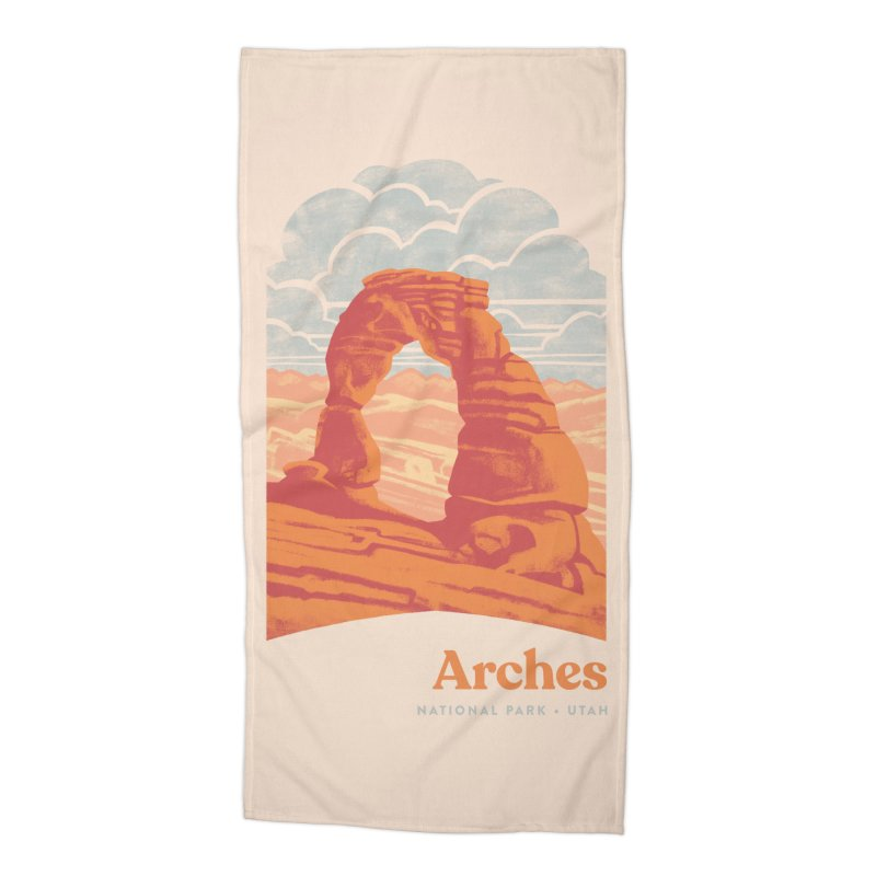 Arches National Park Accessories Beach Towel by Waynem