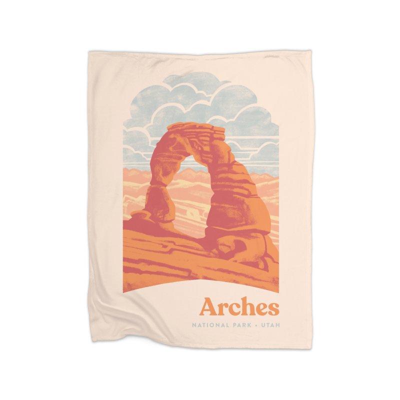 Arches National Park Home Fleece Blanket Blanket by Waynem