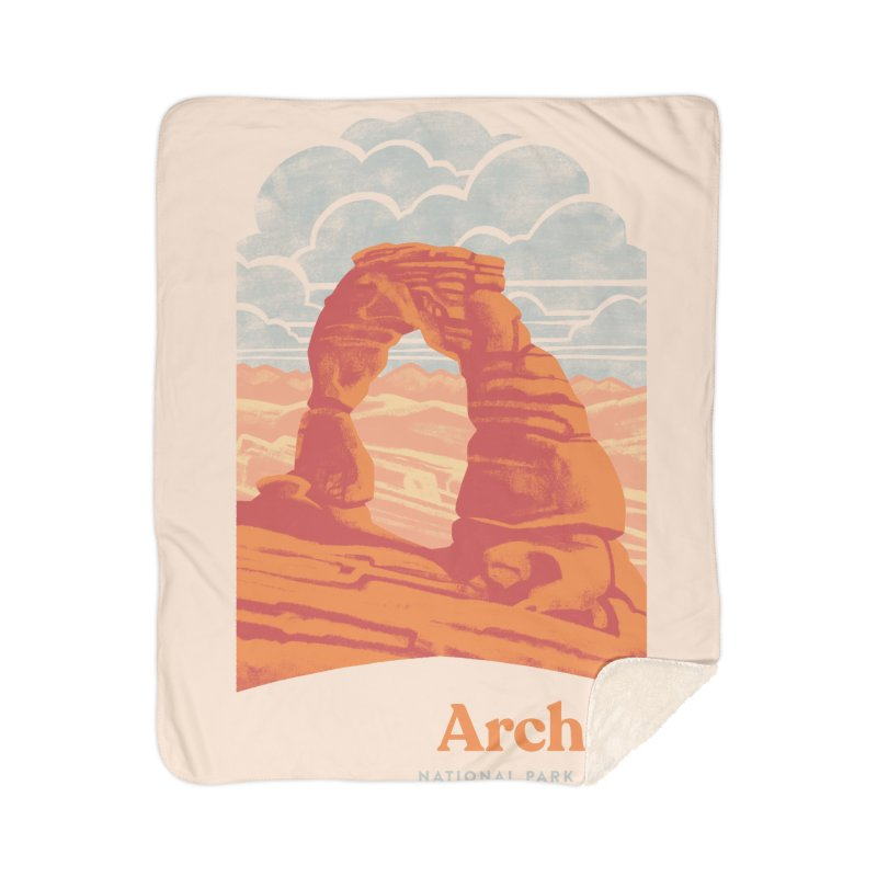 Arches National Park Home Sherpa Blanket Blanket by Waynem