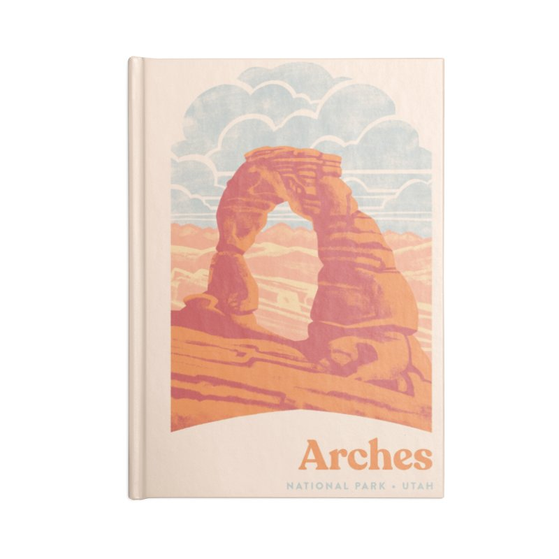 Arches National Park Accessories Lined Journal Notebook by Waynem