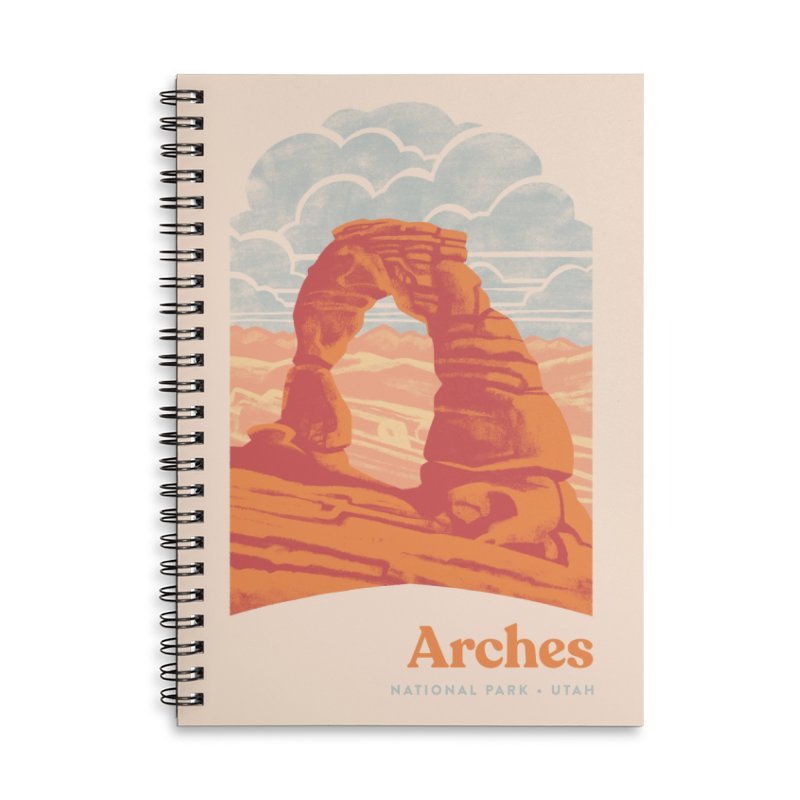 Arches National Park Accessories Lined Spiral Notebook by Waynem