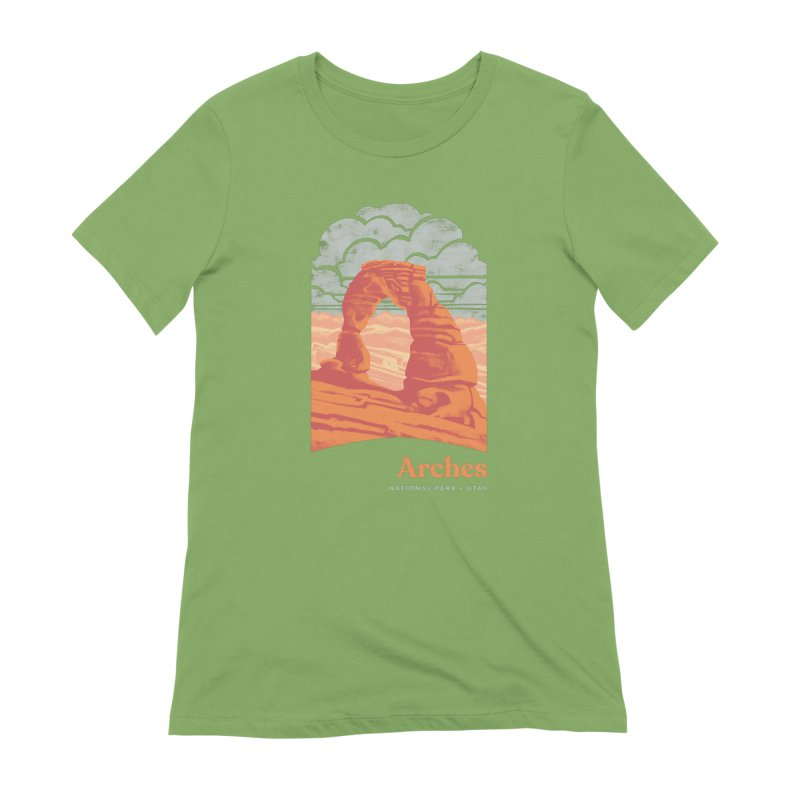 Arches National Park Women's Extra Soft T-Shirt by Waynem
