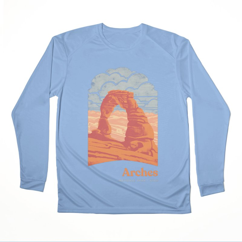 Arches National Park Men's Performance Longsleeve T-Shirt by Waynem