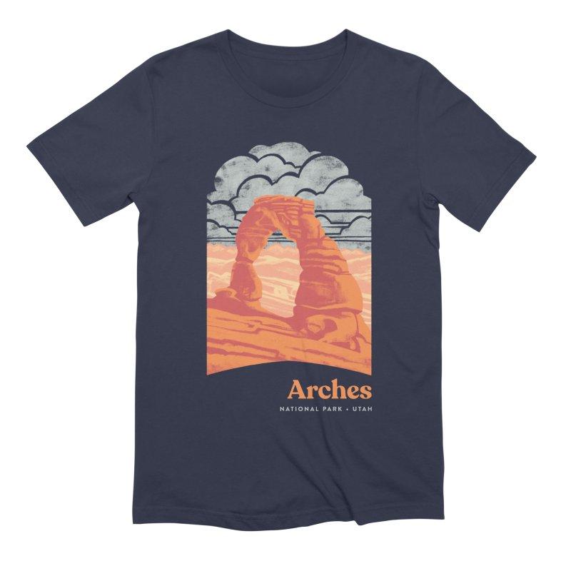 Arches National Park Men's Extra Soft T-Shirt by Waynem