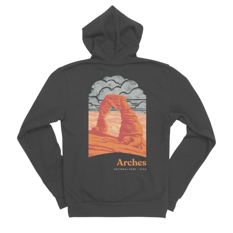 Arches National Park Men's Sponge Fleece Zip-Up Hoody by Waynem