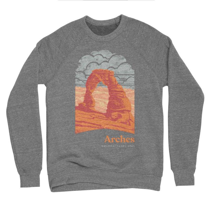 Arches National Park Men's Sponge Fleece Sweatshirt by Waynem