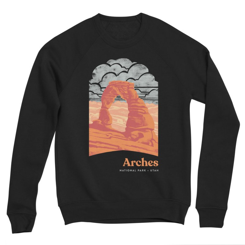 Arches National Park Women's Sponge Fleece Sweatshirt by Waynem