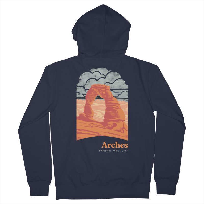 Arches National Park Women's French Terry Zip-Up Hoody by Waynem