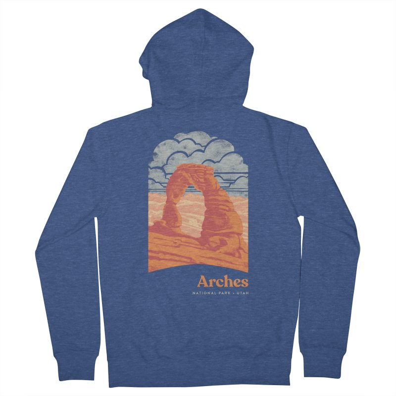 Arches National Park Men's French Terry Zip-Up Hoody by Waynem