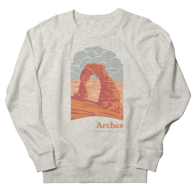 Arches National Park Women's French Terry Sweatshirt by Waynem