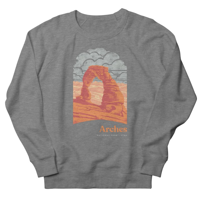 Arches National Park Men's French Terry Sweatshirt by Waynem