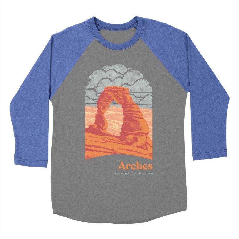Arches National Park Women's Baseball Triblend Longsleeve T-Shirt by Waynem