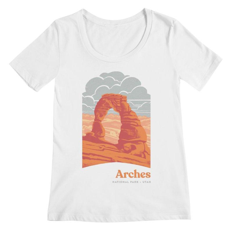 Arches National Park Women's Regular Scoop Neck by Waynem