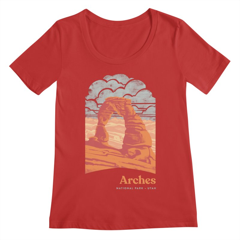 Arches National Park Women's Regular Scoop Neck by Waynem