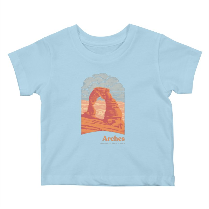Arches National Park Kids Baby T-Shirt by Waynem