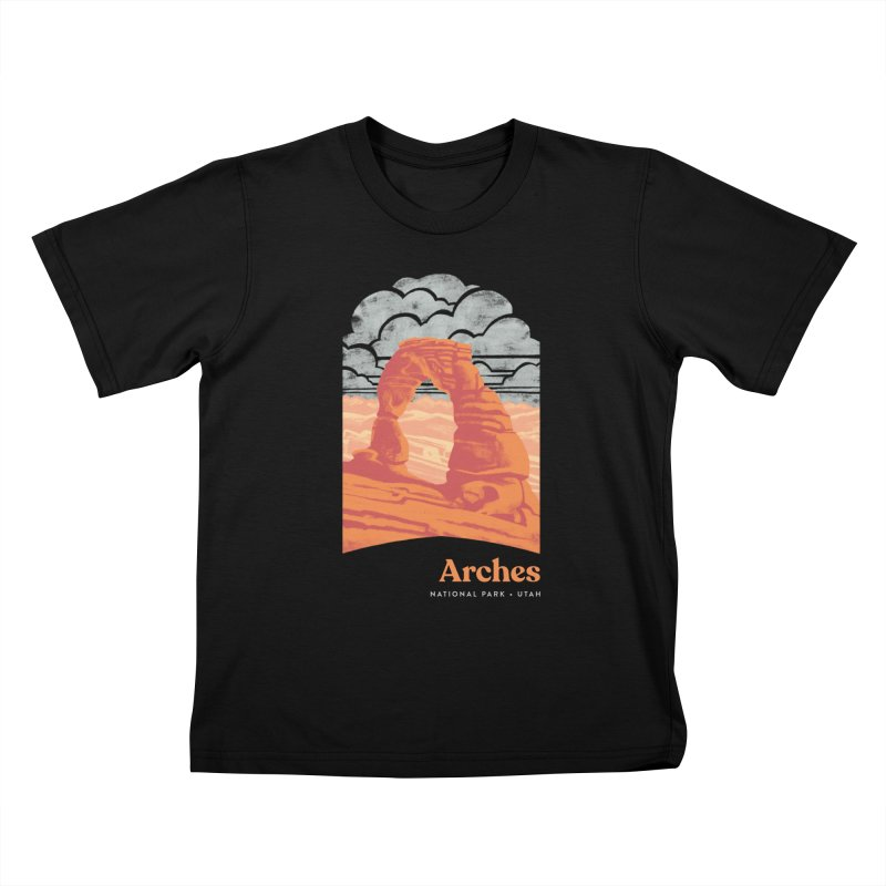 Arches National Park Kids T-Shirt by Waynem