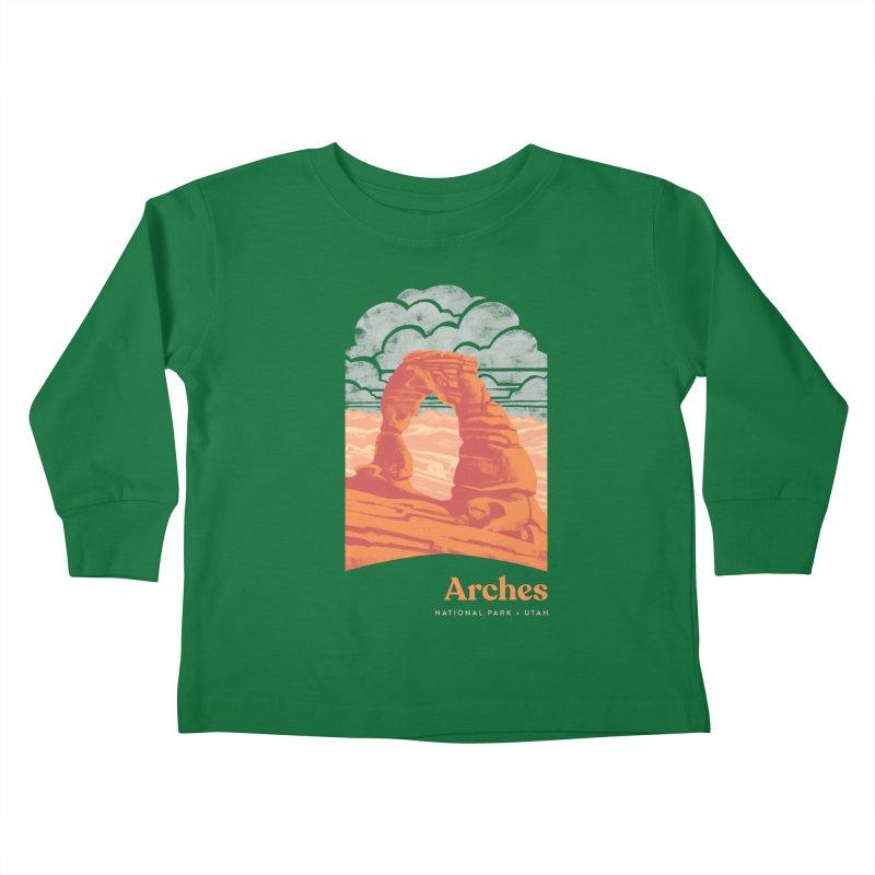 Arches National Park Kids Toddler Longsleeve T-Shirt by Waynem