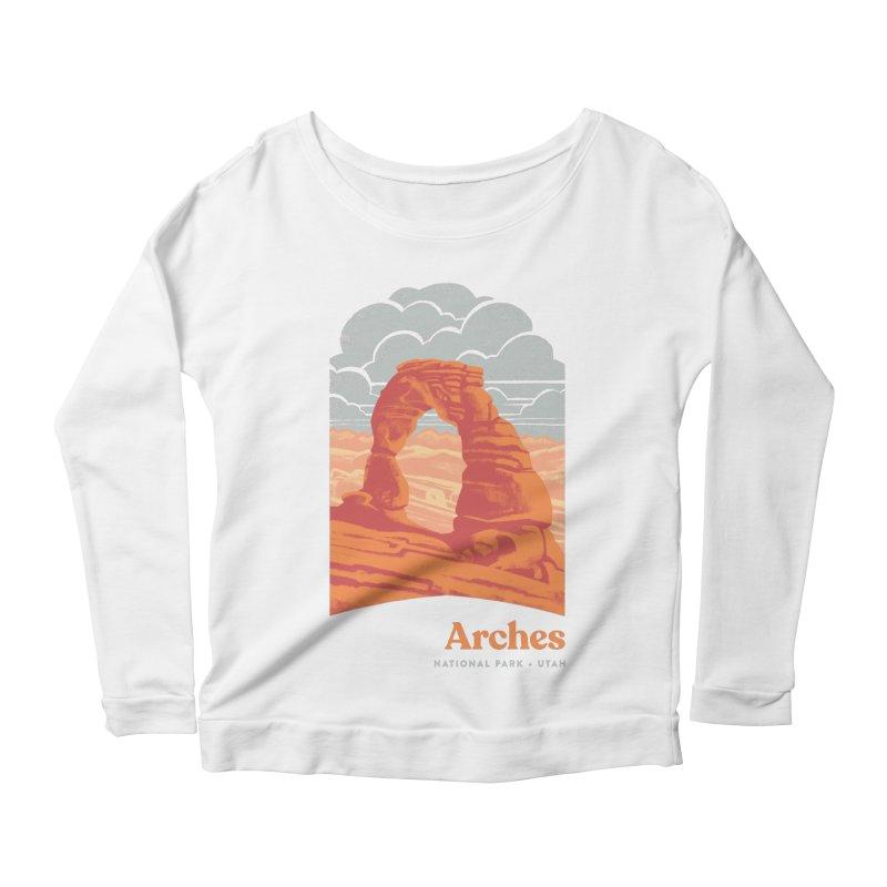 Arches National Park Women's Scoop Neck Longsleeve T-Shirt by Waynem