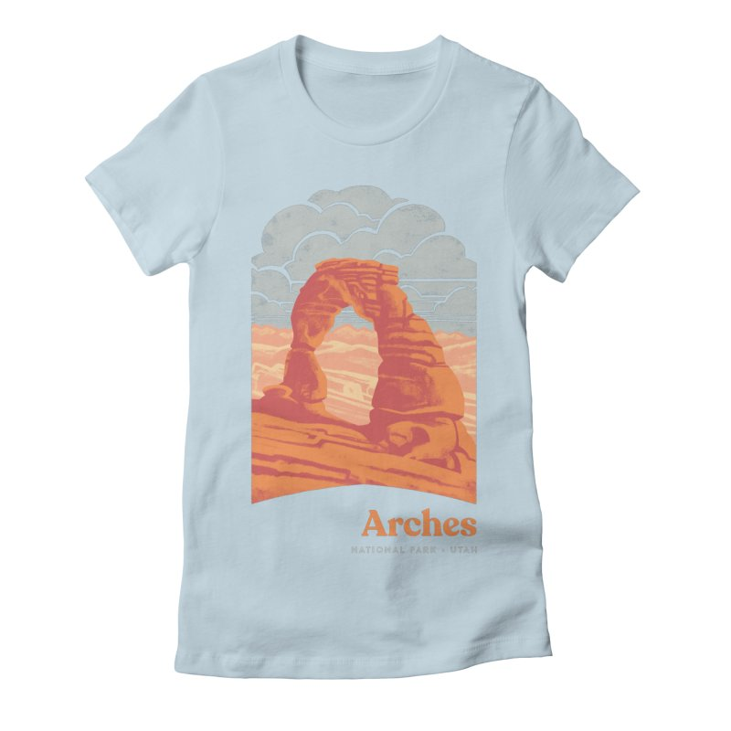 Arches National Park Women's Fitted T-Shirt by Waynem