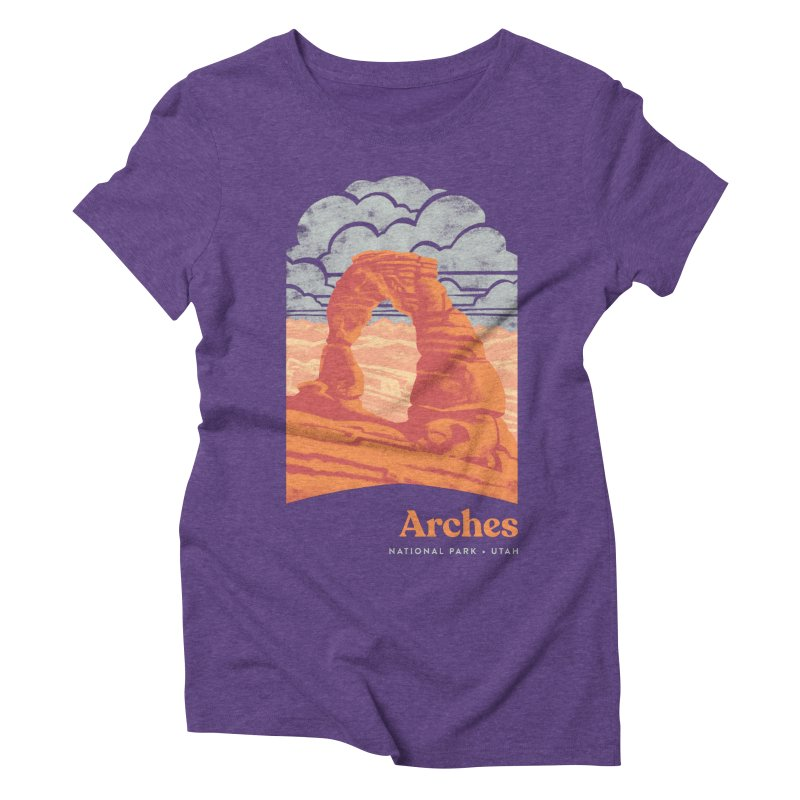 Arches National Park Women's Triblend T-Shirt by Waynem