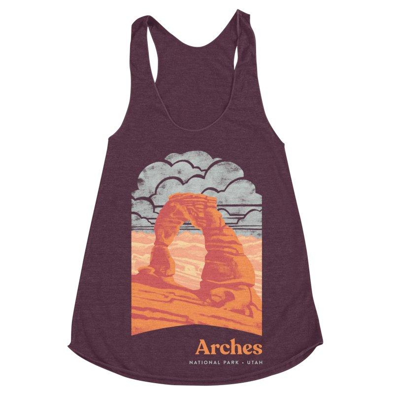 Arches National Park Women's Racerback Triblend Tank by Waynem