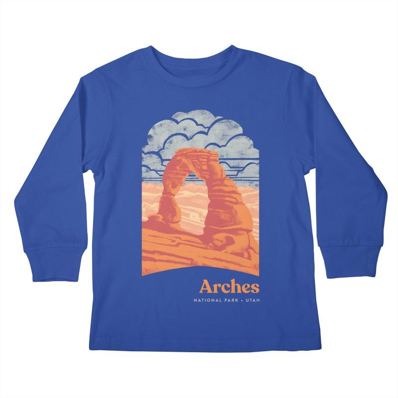 Arches National Park Kids Longsleeve T-Shirt by Waynem