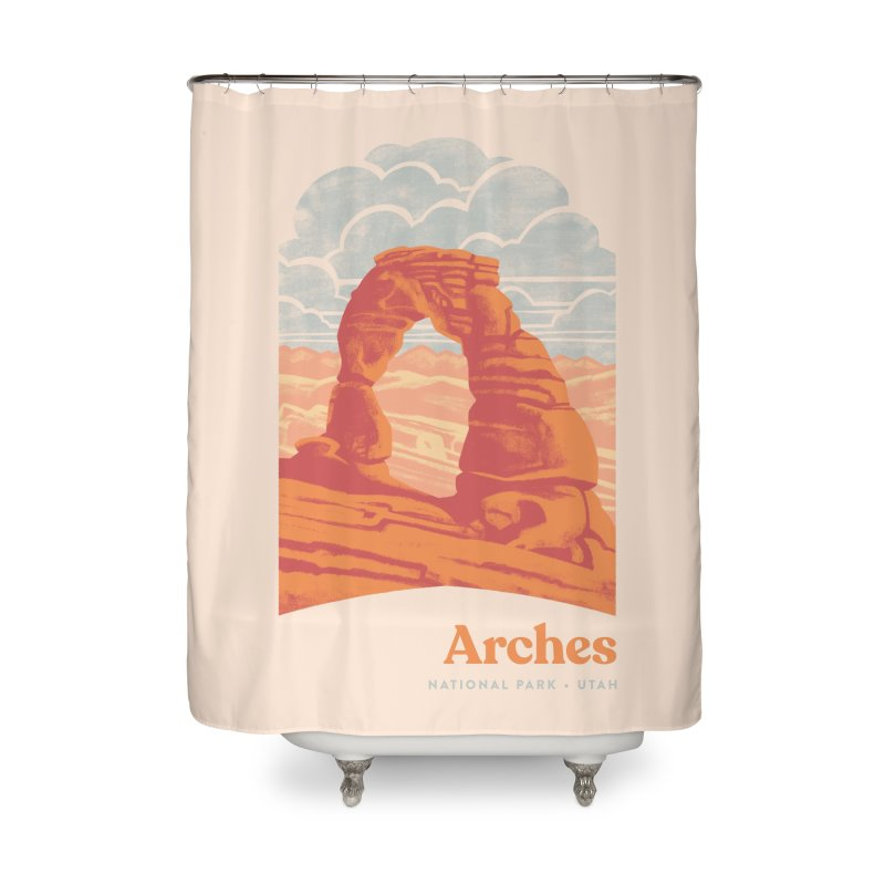 Arches National Park Home Shower Curtain by Waynem