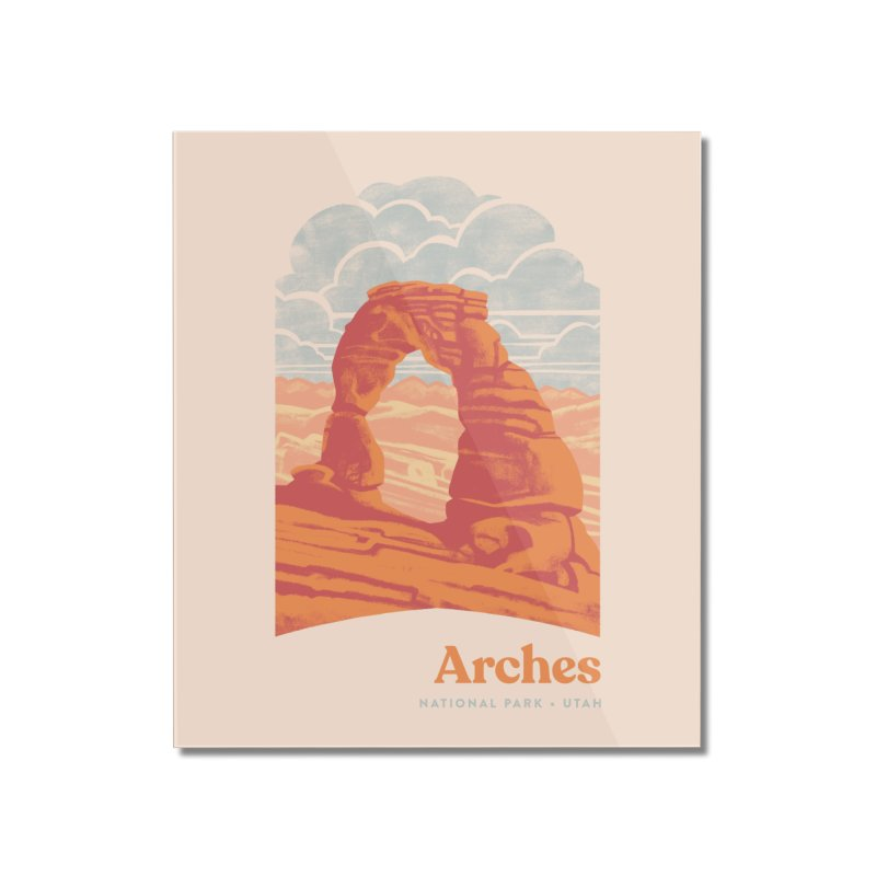 Arches National Park Home Mounted Acrylic Print by Waynem