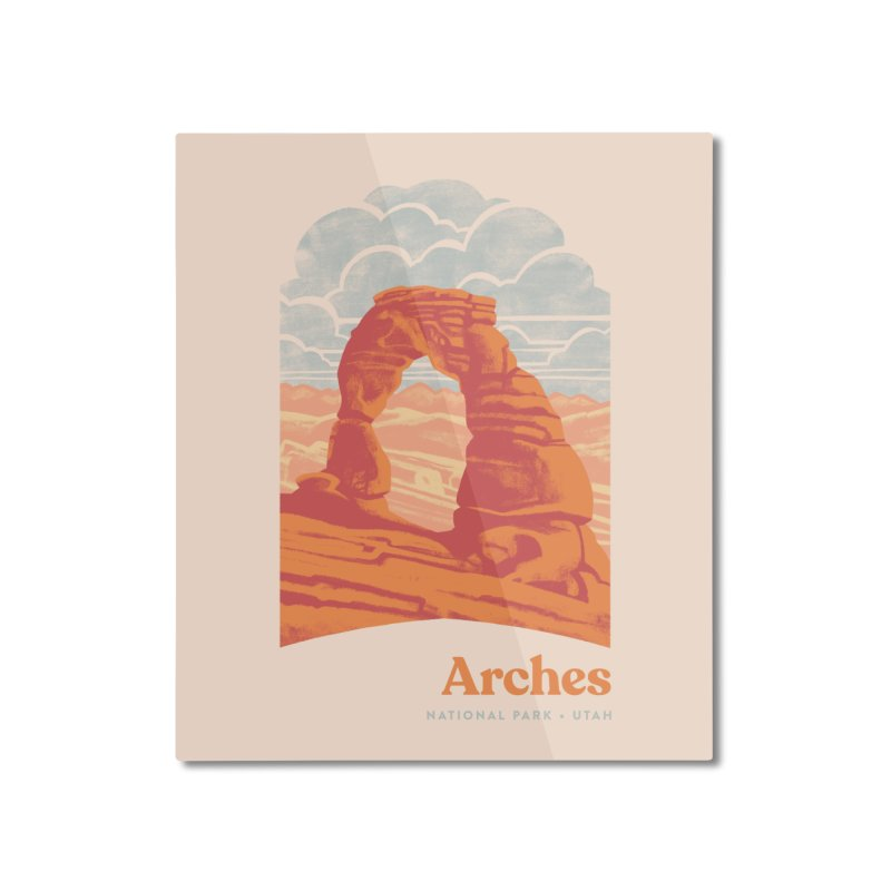 Arches National Park Home Mounted Aluminum Print by Waynem