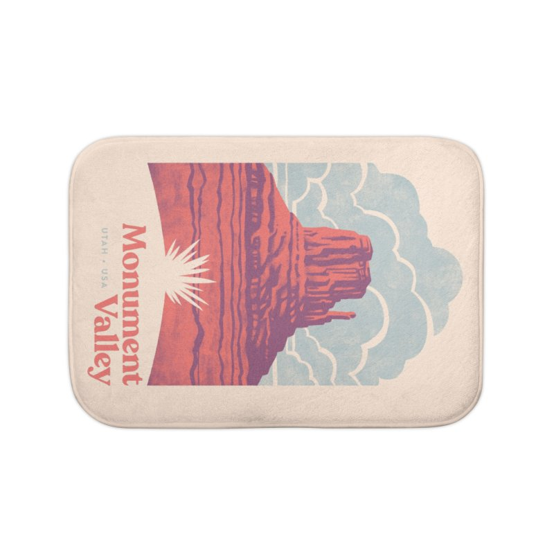 Monument Valley Travel Poster Home Bath Mat by Waynem