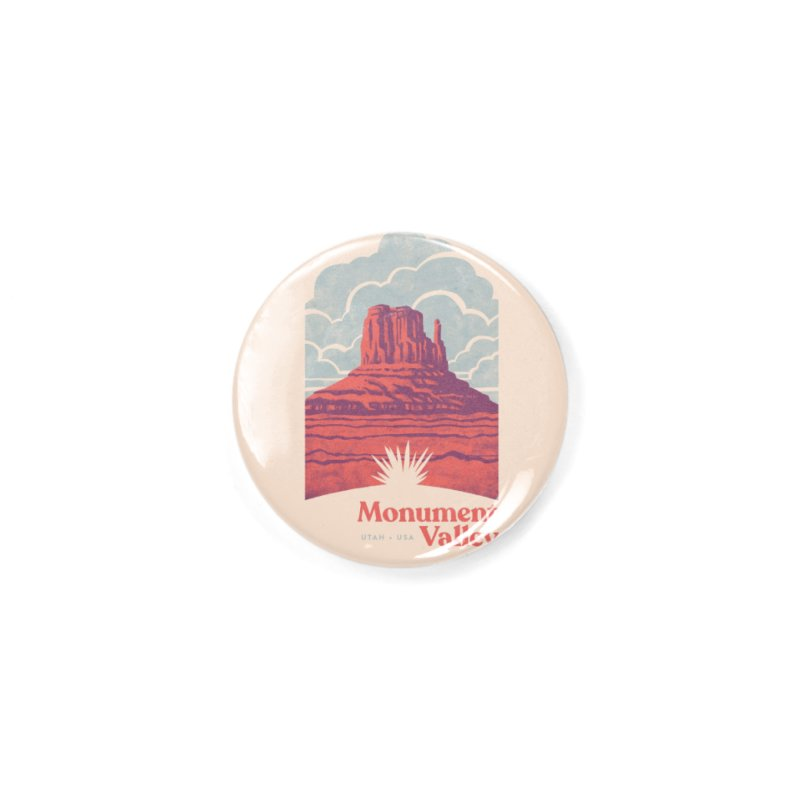 Monument Valley Travel Poster Accessories Button by Waynem