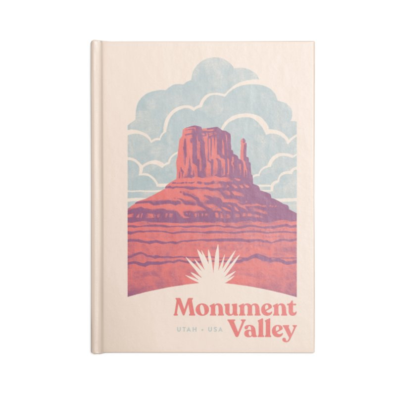 Monument Valley Travel Poster Accessories Lined Journal Notebook by Waynem