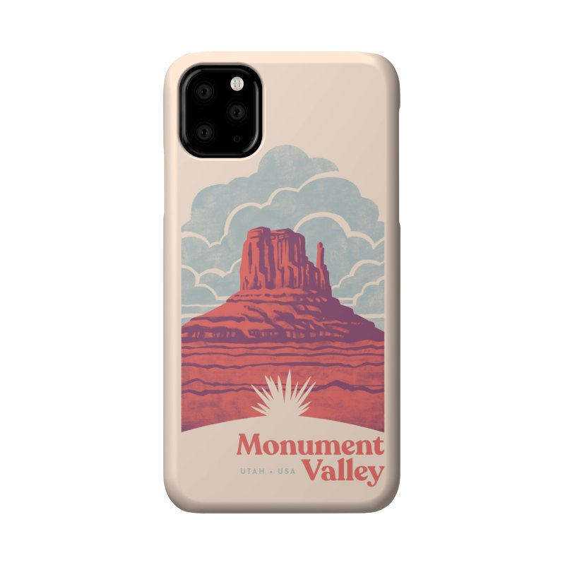 Monument Valley Travel Poster Accessories Phone Case by Waynem