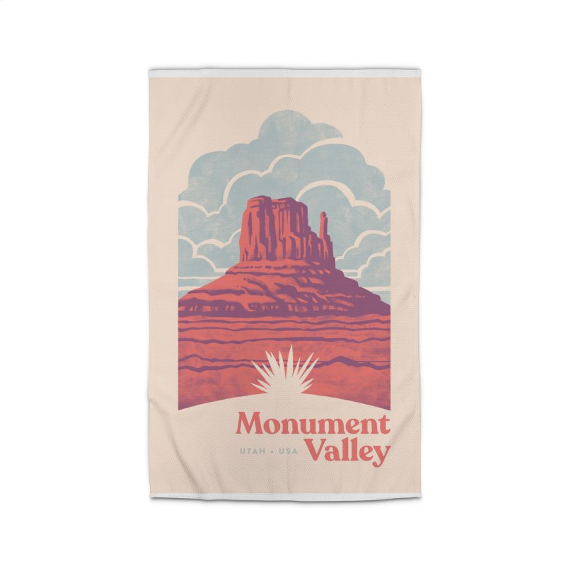 Monument Valley Travel Poster Home Rug by Waynem